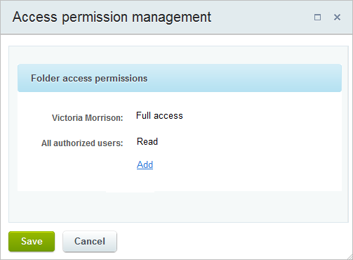 Write access not granted message center