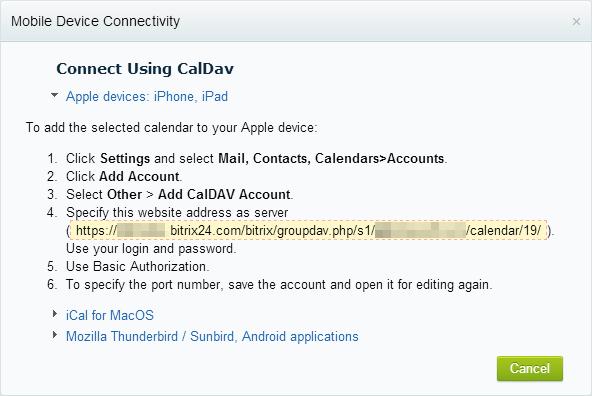 how to create a caldav calander