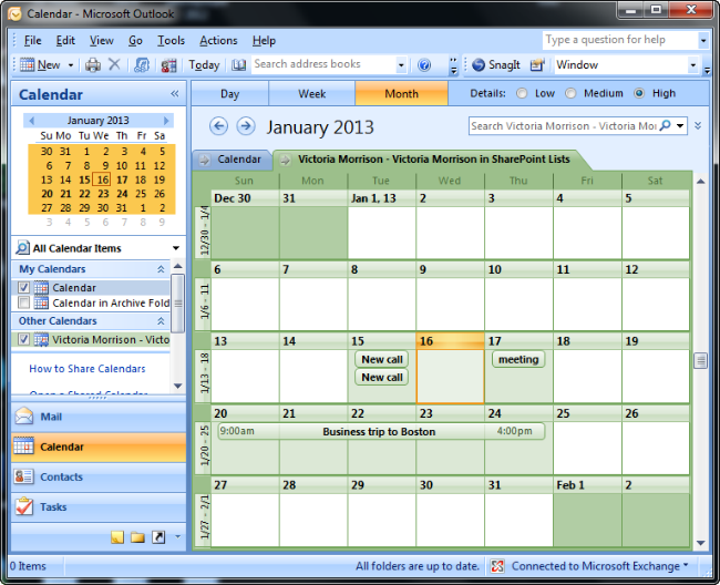 Exporting The Calendars