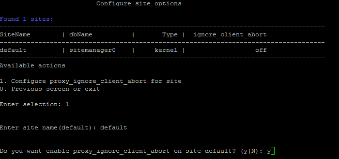 1  Configure proxy_ignore_client_abort for Site