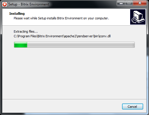 Installing Bitrix Site Manager
